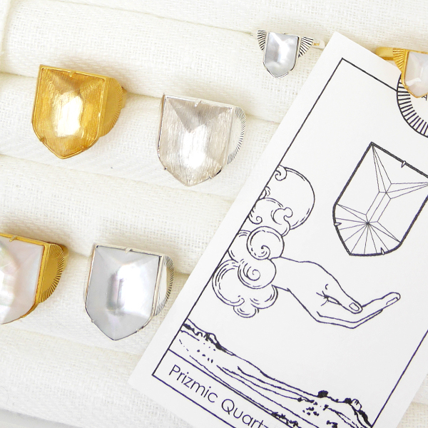RACKETS Prizmic Quartz Emblem Ring