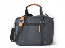 WASHED BLACK  OFFICE TOTE