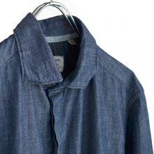 インディゴボタンダウンシャツF50948