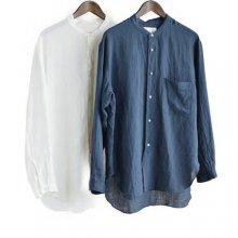 リネンバンドカラーシャツSH0792