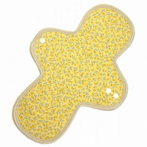 布ナプキン 昼用レギュラー防水ホルダー *かわいい小花* 黄色(ふちベージュ)