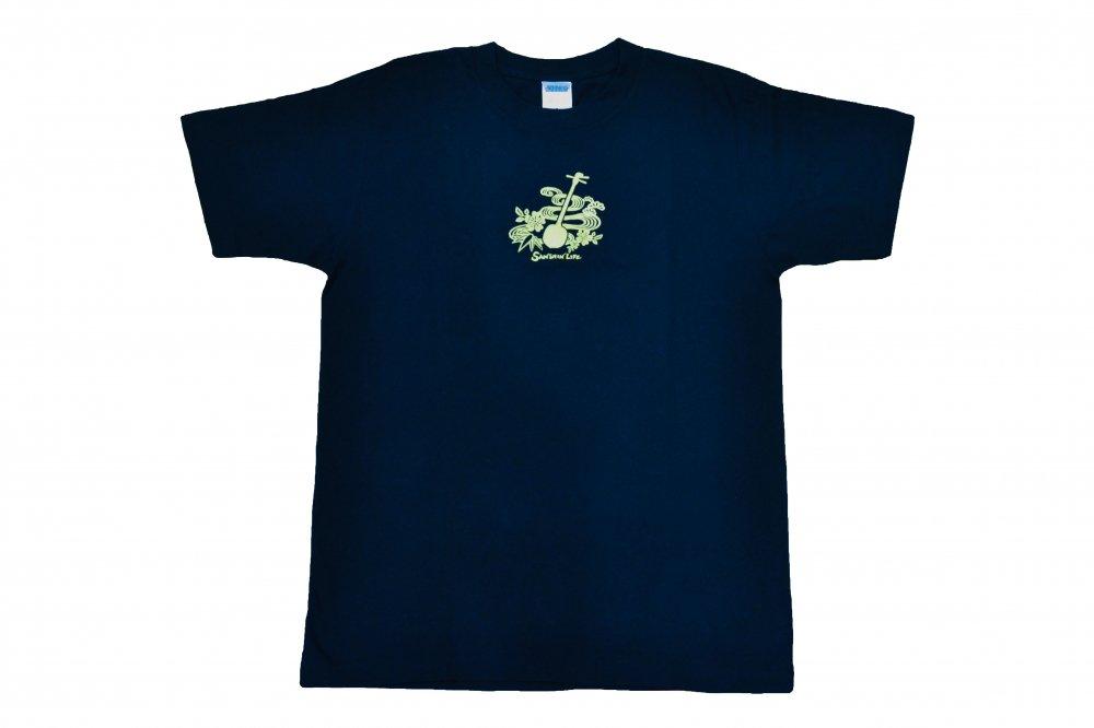 三線 Tシャツ Sanshin Life ネイビー