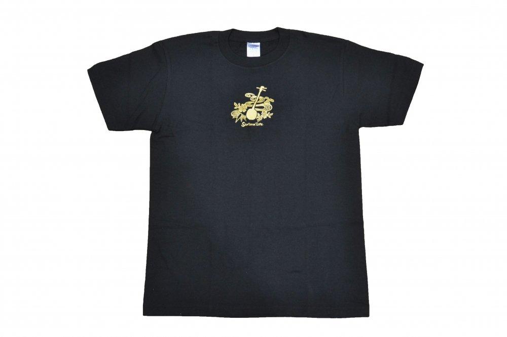 三線 Tシャツ Sanshin Life 黒