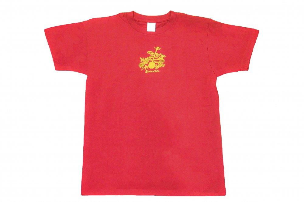 三線 Tシャツ Sanshin Life 赤