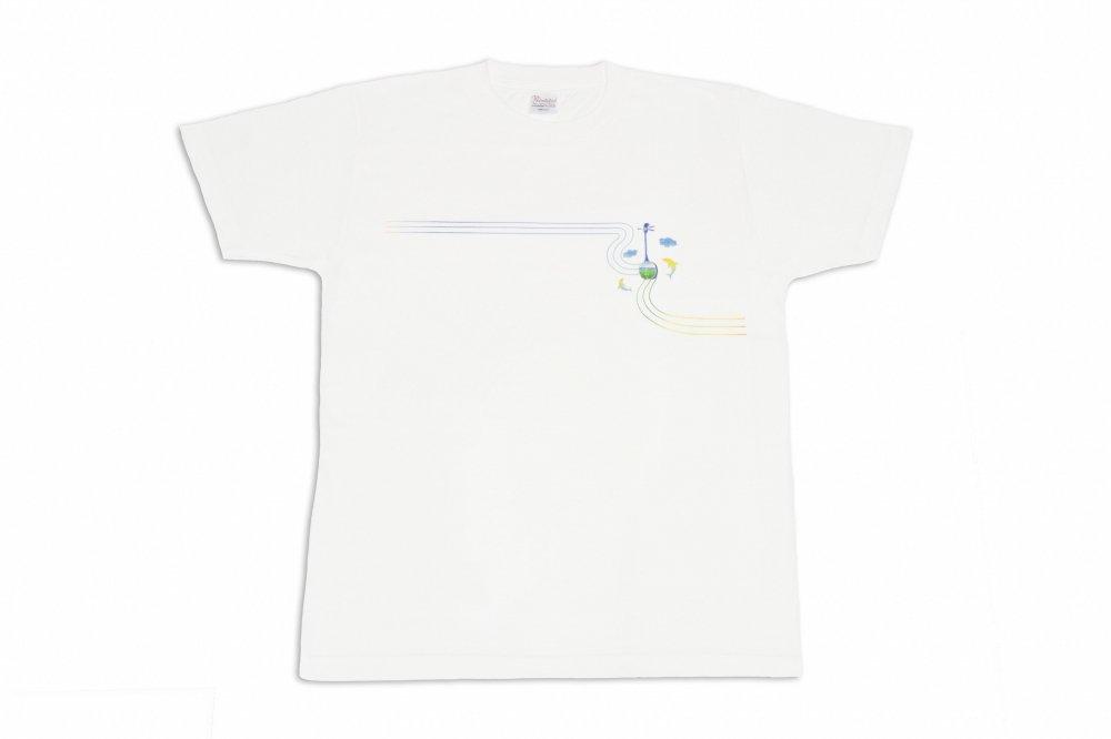 三線 Tシャツ イルカ 白