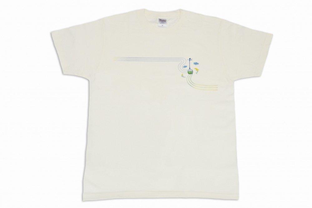 三線 Tシャツ イルカ アイボリー