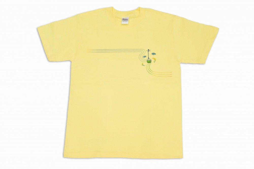 三線  Tシャツ イルカ 黄色