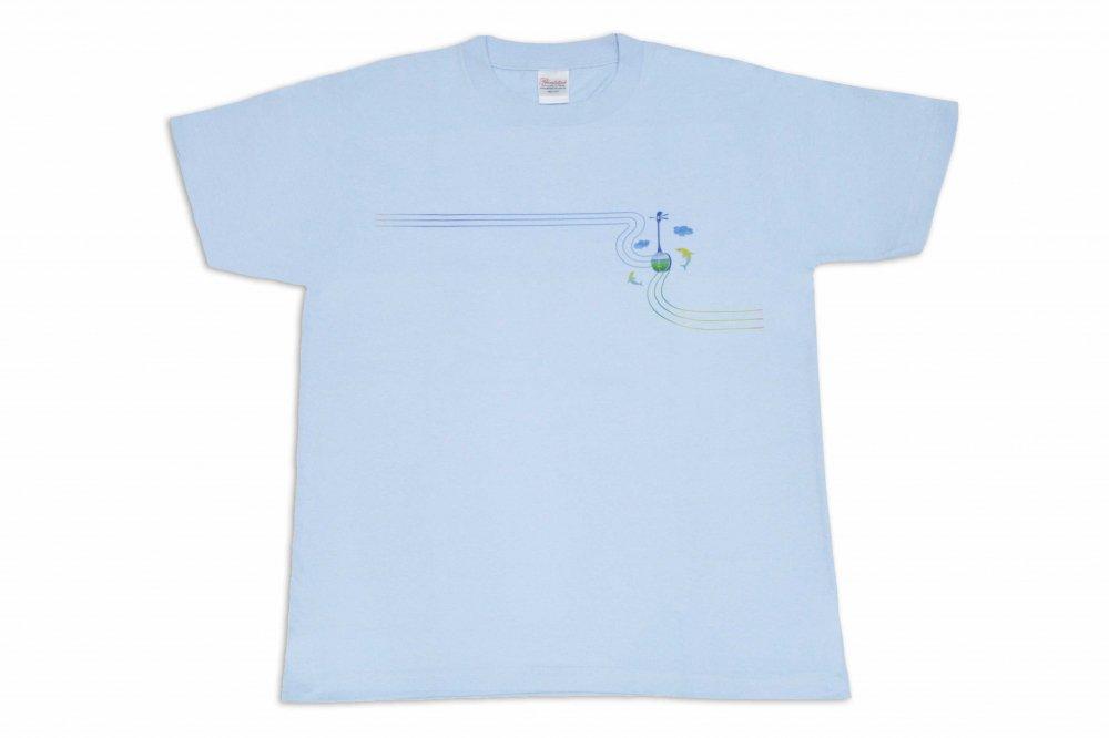 三線 Tシャツ イルカ 水色