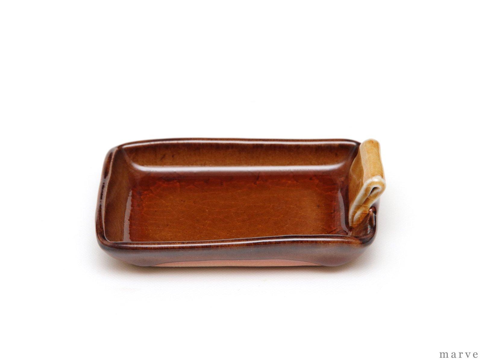 caramel(カラメル)耳付き角豆皿 柴田サヤカ