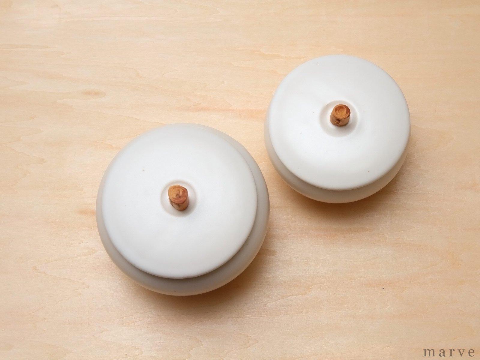 SUZUGAMA(スズガマ) White series どんぐりポットS 溝あり