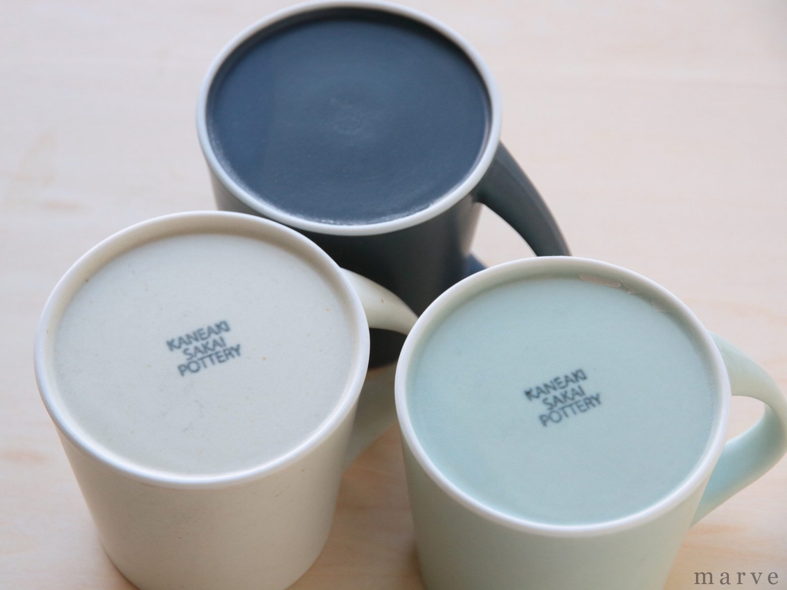 KANEAKI SAKAI POTTERY flat L mug(Lマグ) アイボリー