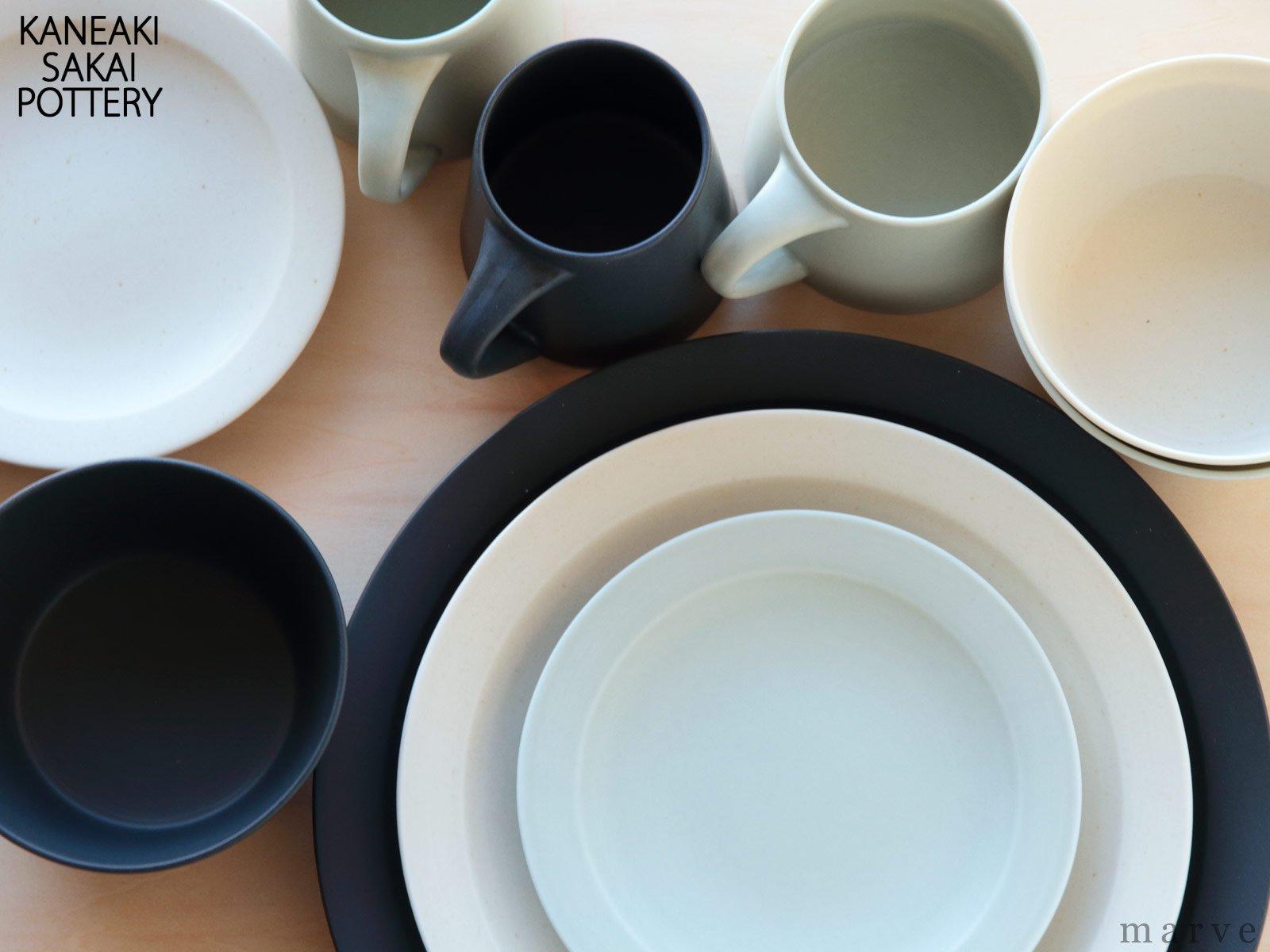 KANEAKI SAKAI POTTERY flat L mug(Lマグ) ペールブルー