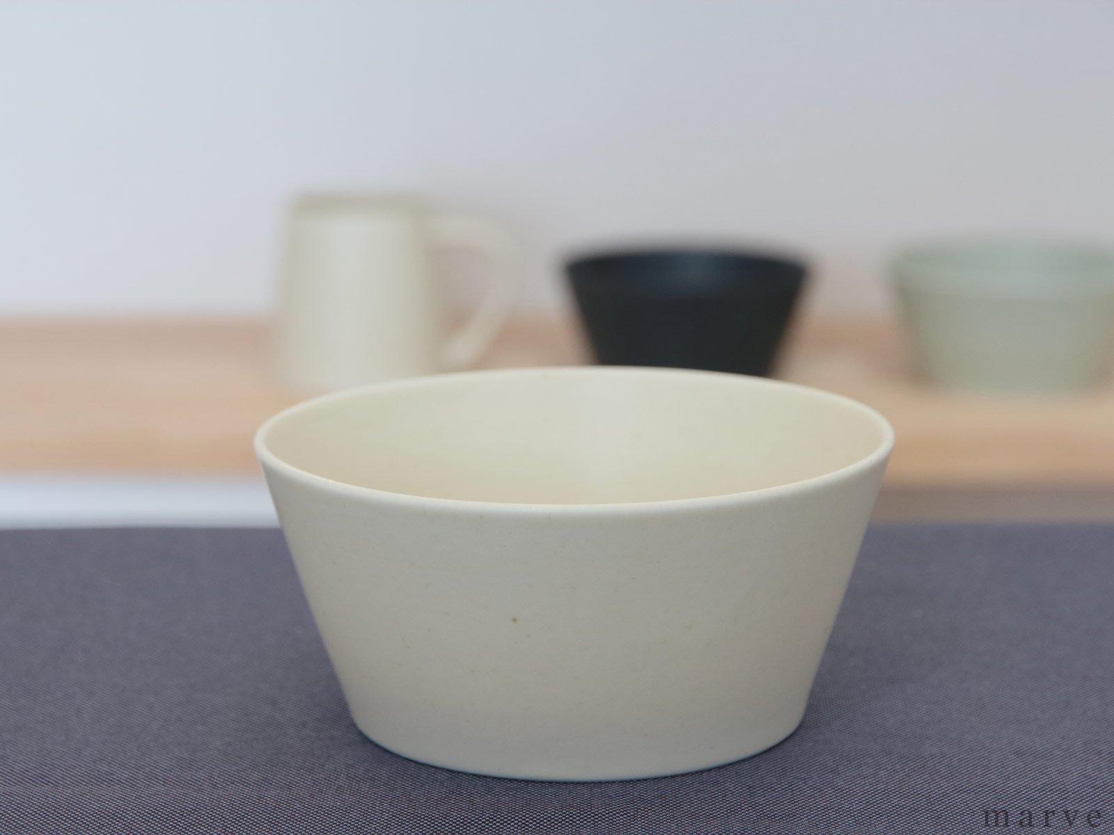 KANEAKI SAKAI POTTERY flat bowl アイボリー