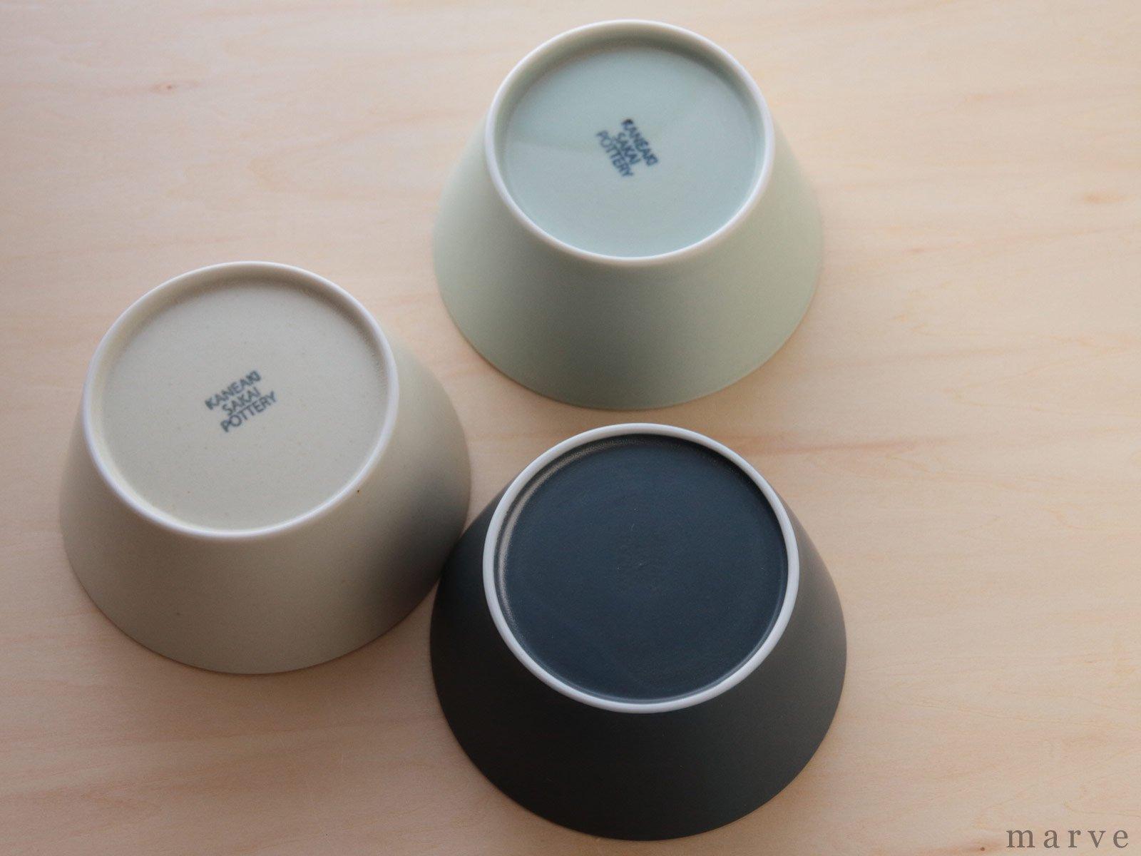 KANEAKI SAKAI POTTERY flat bowl コバルト