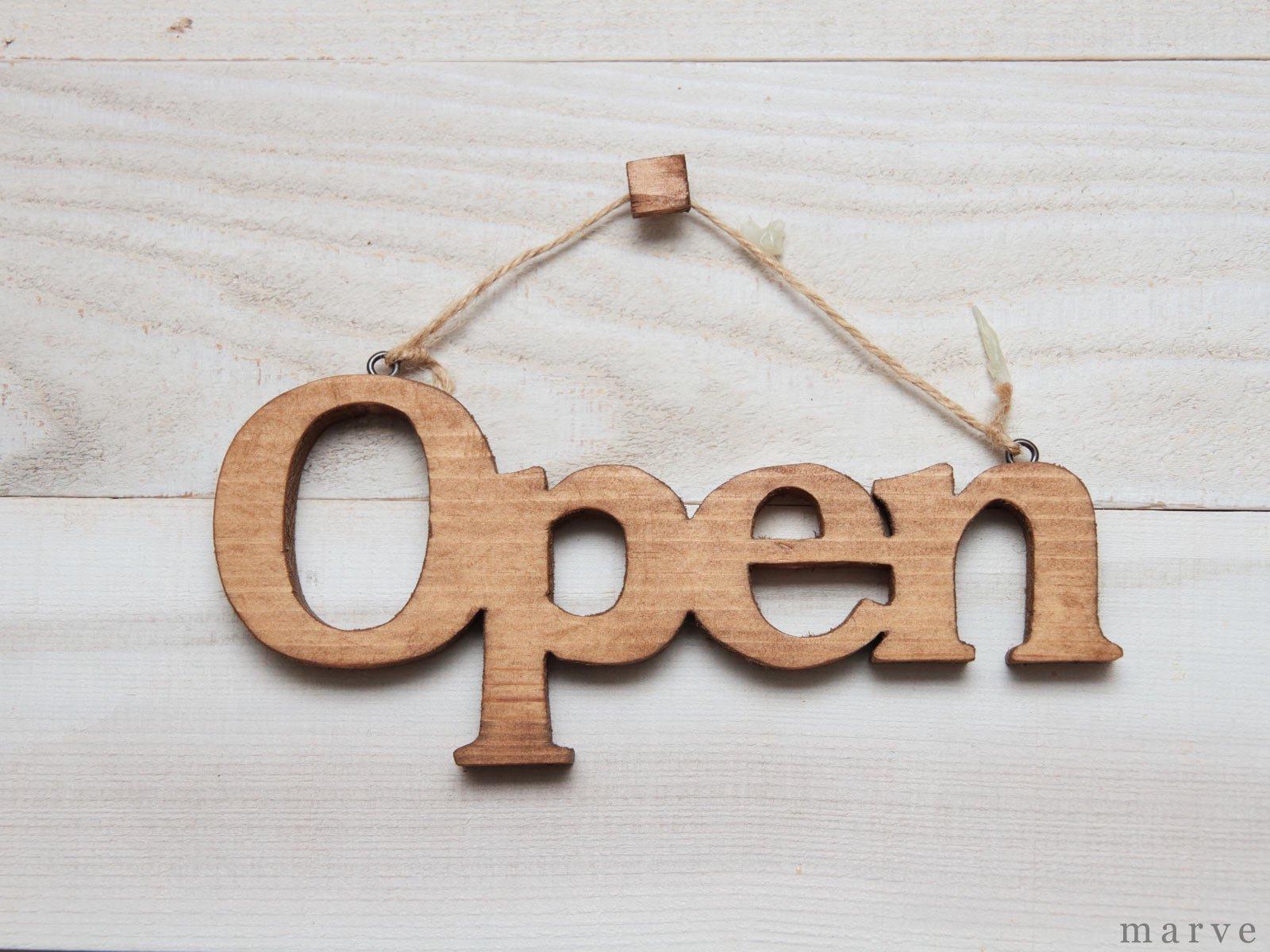 ウッドドアハンギングプレート Open