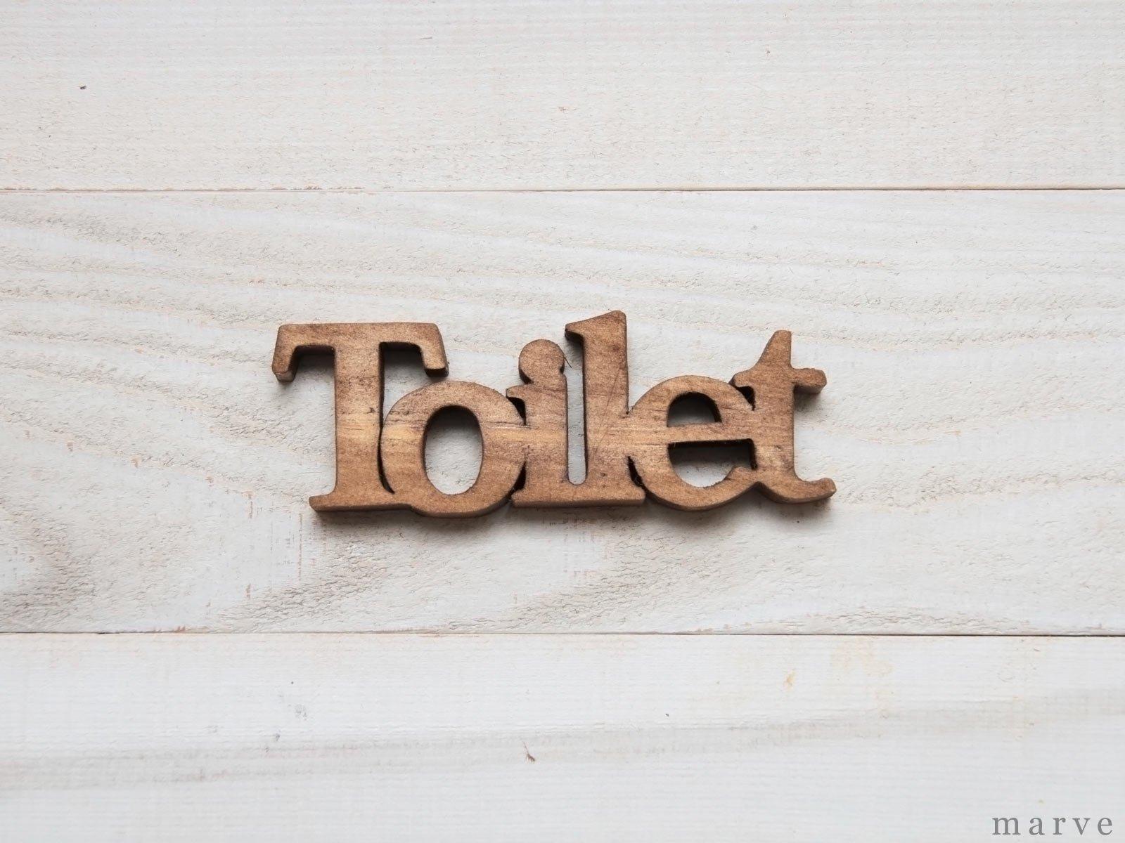 ウッドドアハンギングプレート Toilet
