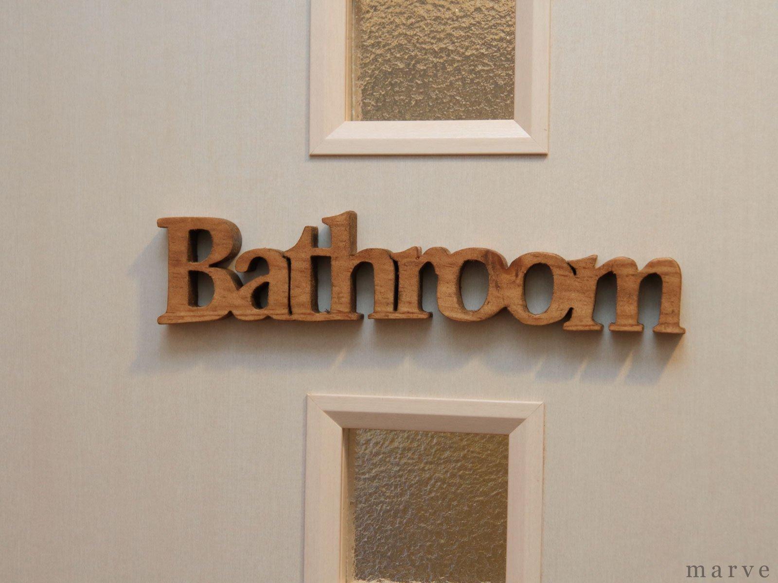 ウッドドアハンギングプレート Bathroom