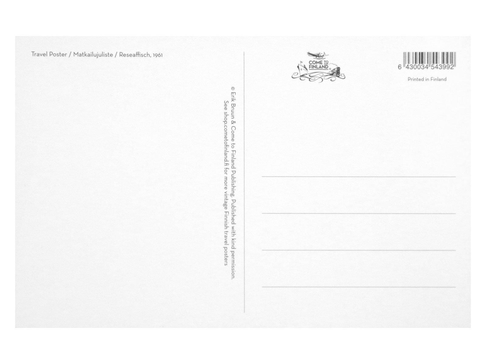 ポストカードL 12×18cm「ザリガニパーティー」