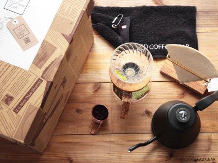 コーヒーギフトBOX HARIO V60・温度計付きケトル他 7点セット mp COFFee GEAR