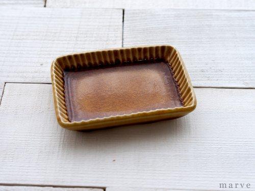 柴田サヤカ アメの実 しのぎ角豆皿