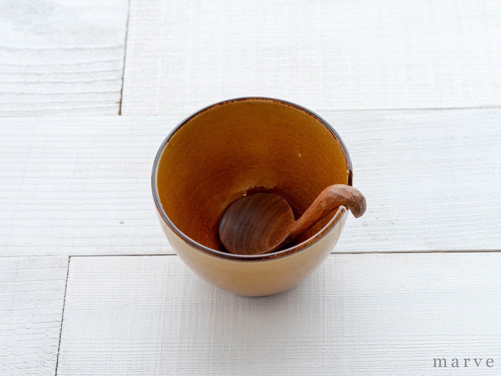 柴田サヤカ ソースカップ 木製スプーン付き
