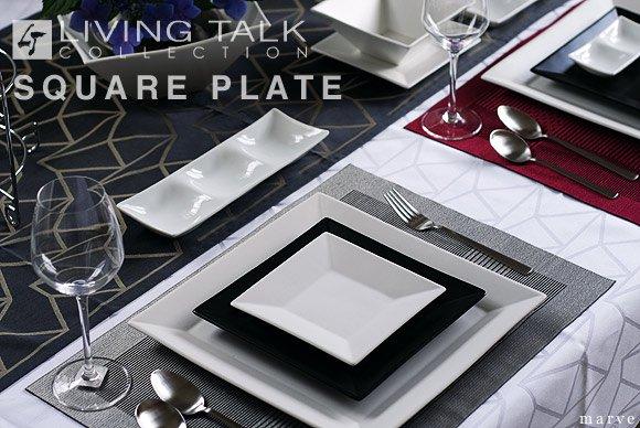 Living Talkスクエアプレート L.M.Sセット◆在庫限り品◆