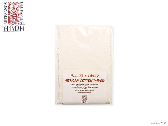 ARPAハンドメイドコットンペーパーA6(ハガキ) アイボリー(10枚入)