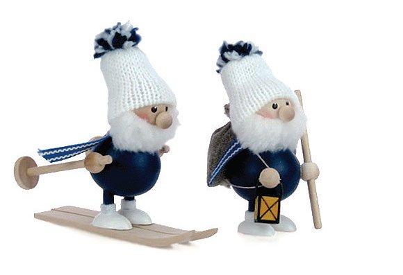 NORDIKA design ニッセドール 「スキーをしている太っちょサンタ」