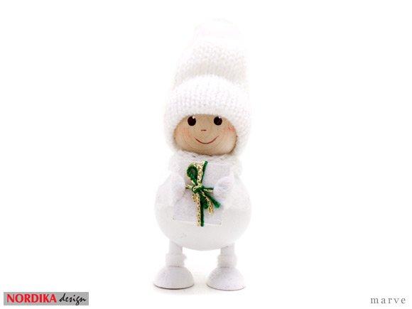 NORDIKA design ニッセドール 「プレゼントを抱えた 白いふとっちょ男の子」
