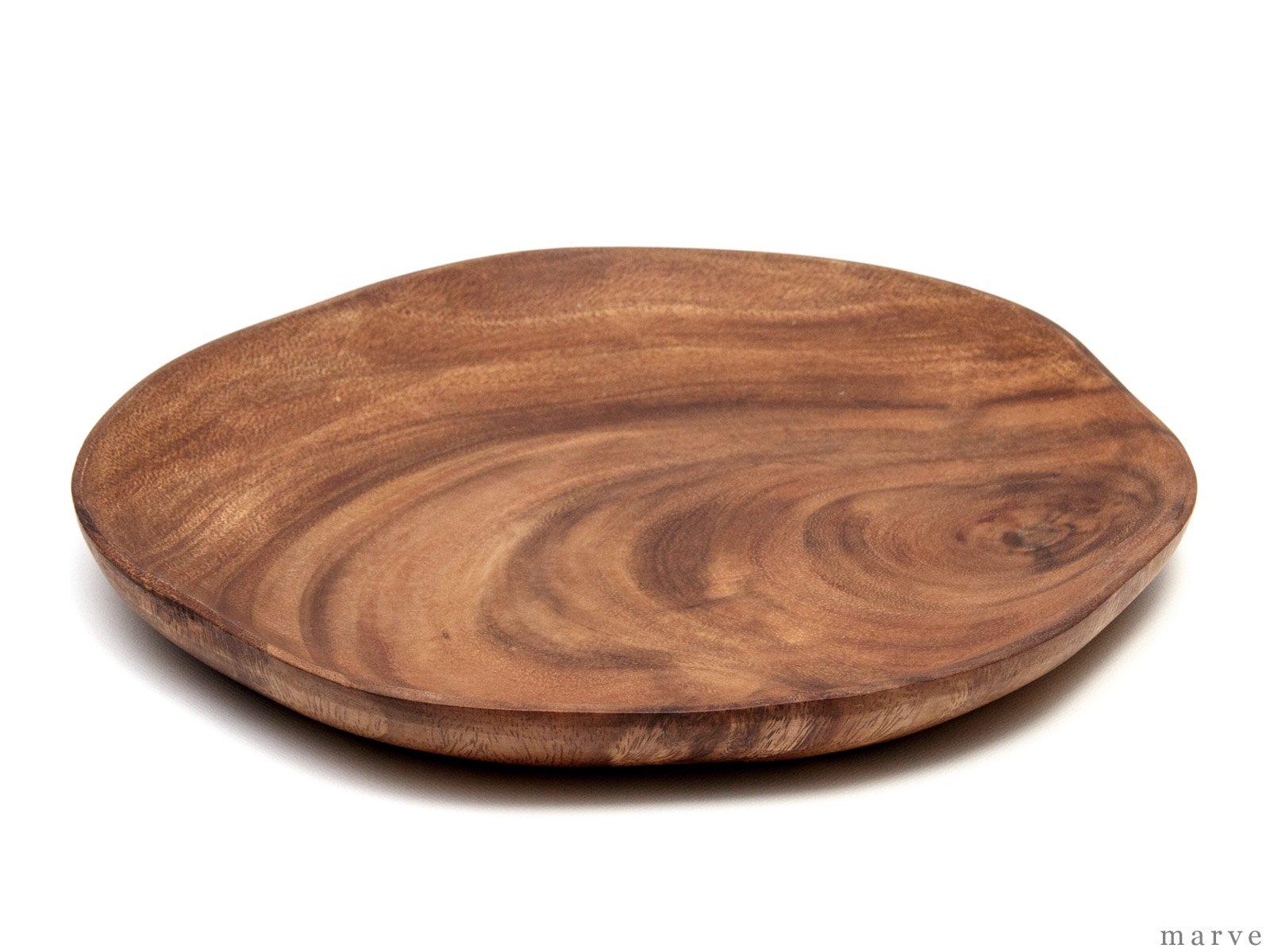木の器 アカシアWOOD スライスプレートM