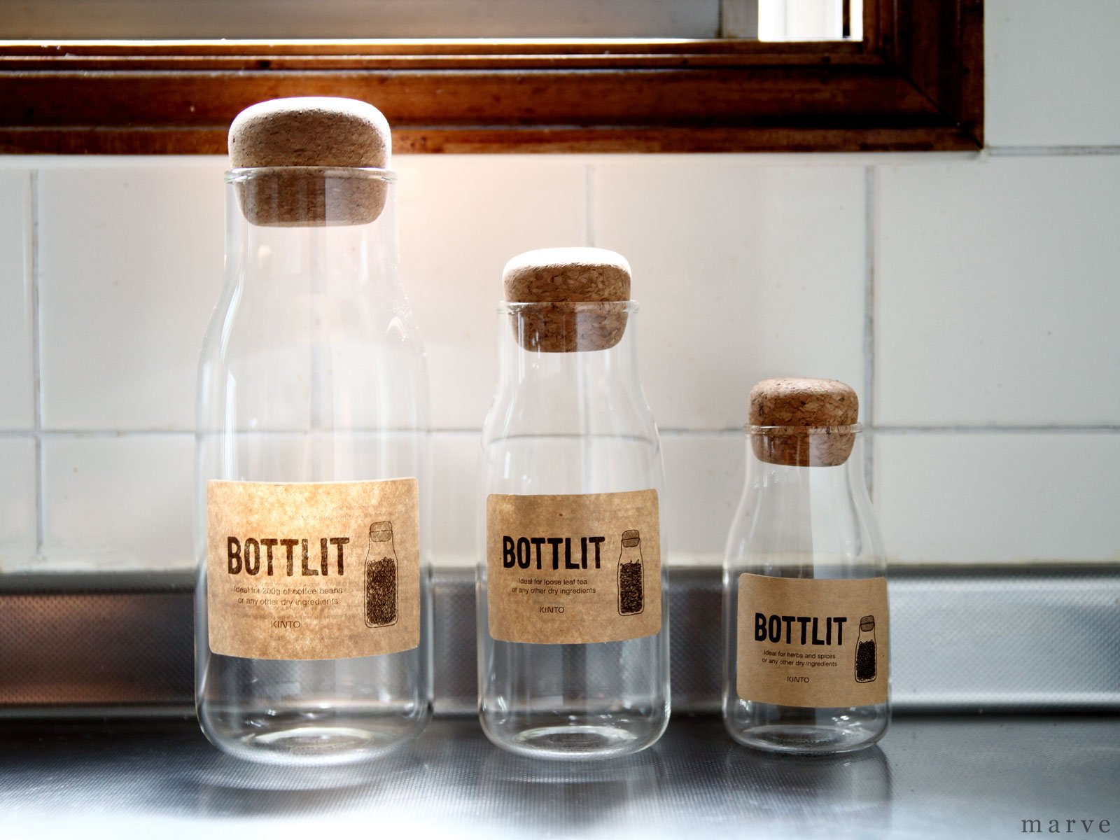 BOTTLIT(ボトリット) ガラスキャニスター 600ml<img class='new_mark_img2' src='//img.shop-pro.jp/img/new/icons55.gif' style='border:none;display:inline;margin:0px;padding:0px;width:auto;' />