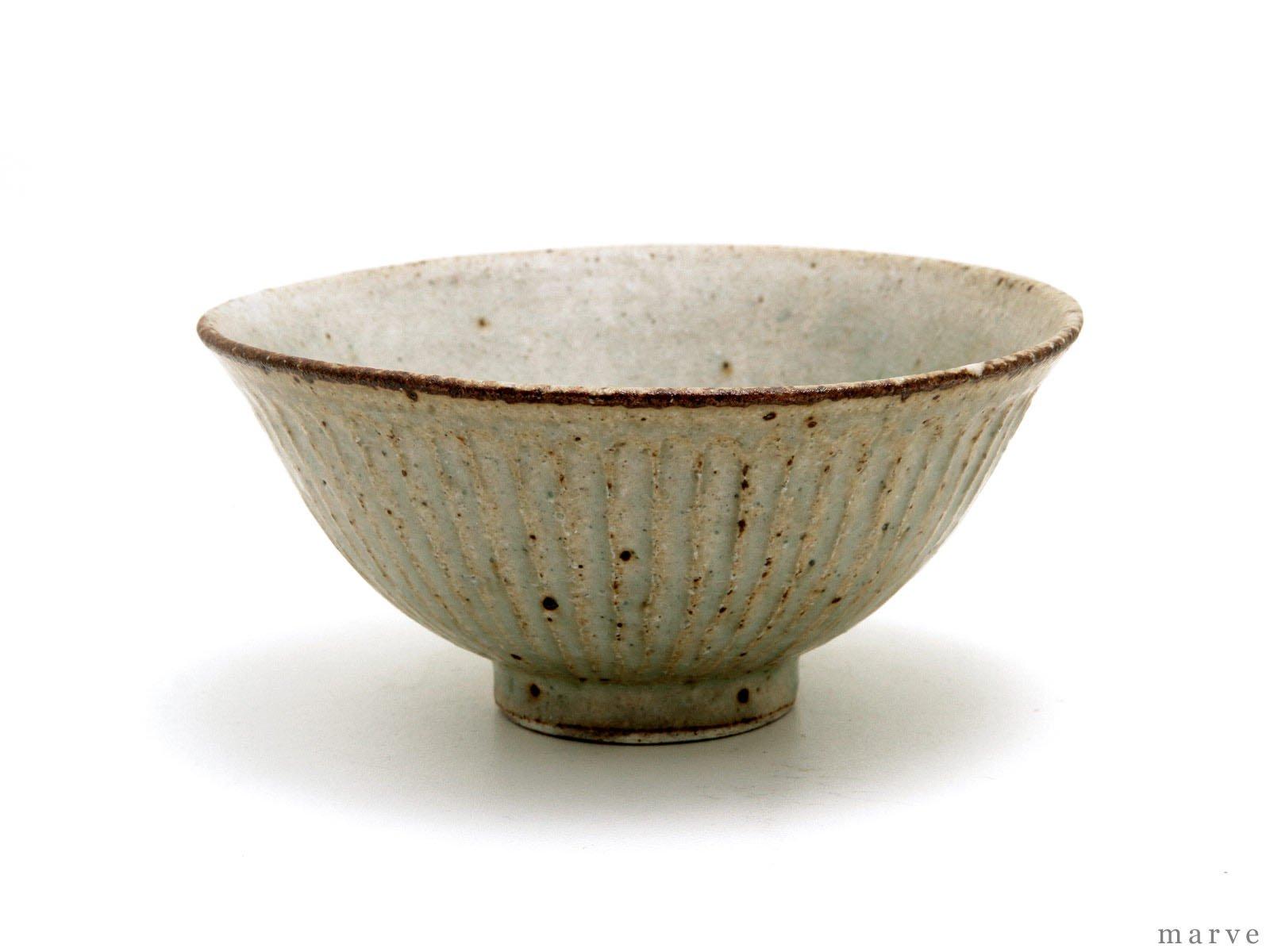 伊藤豊 鎬(シノギ) 茶碗 黄粉引