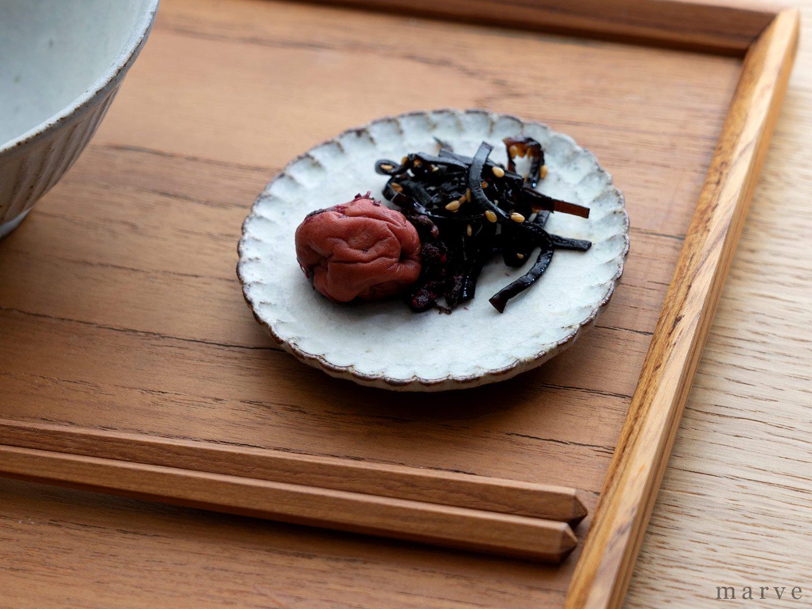 伊藤豊 豆皿 粉引