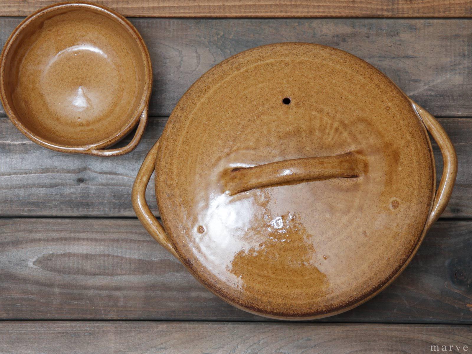 Cacerola(カセロラ) 土鍋 8号鍋 白/黄 4th-market