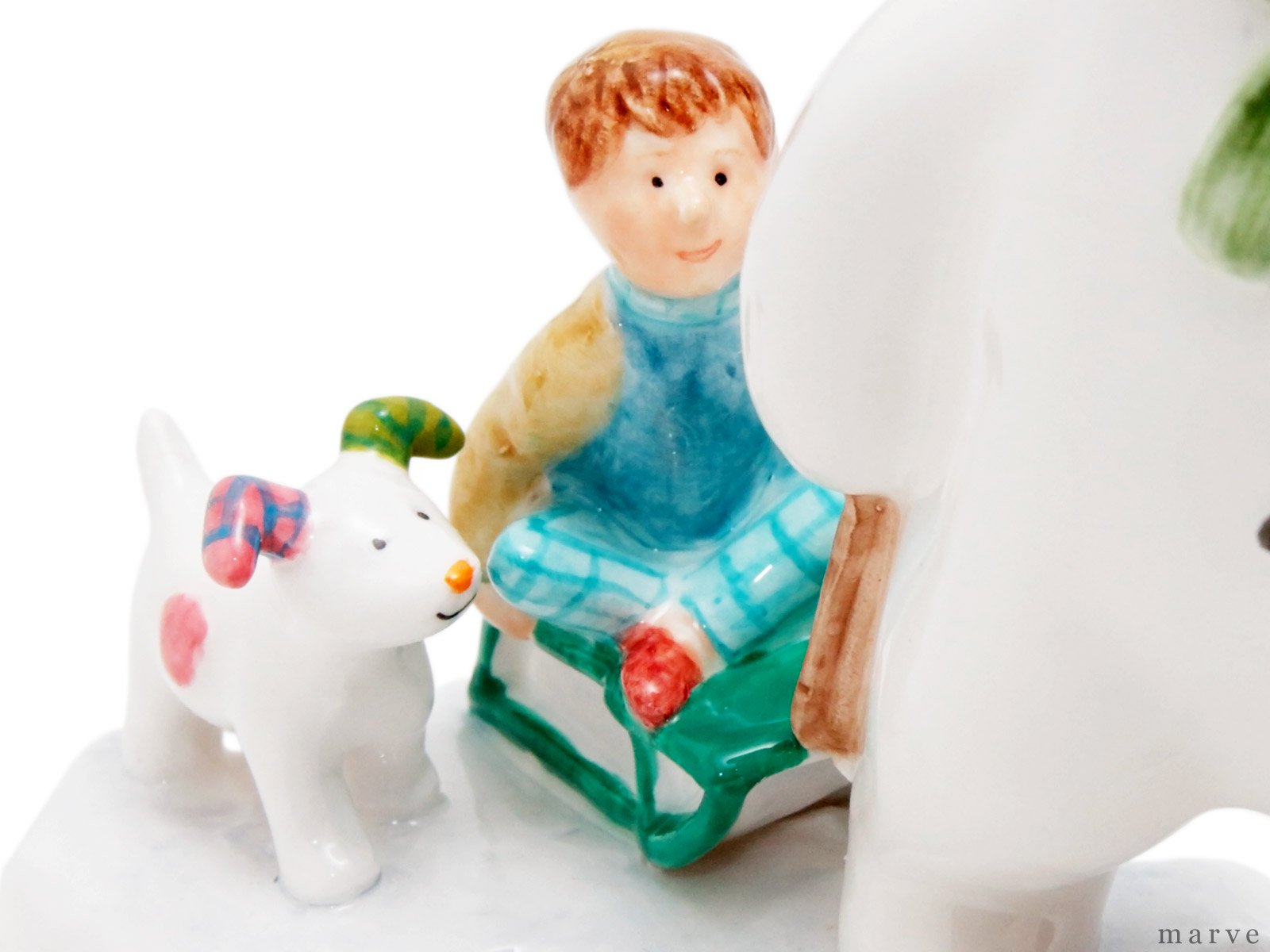 【OUTLET】The Snowman フィギュリン スノーマンとビリーとスノードッグ