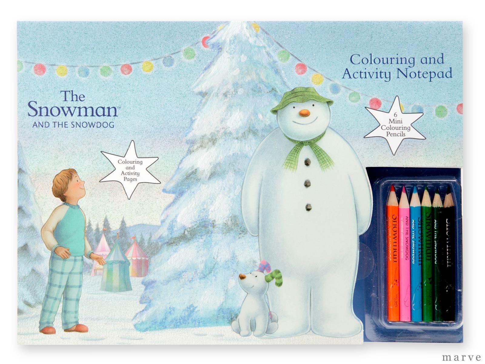 The Snowman スノーマン ぬりえとゲームセット