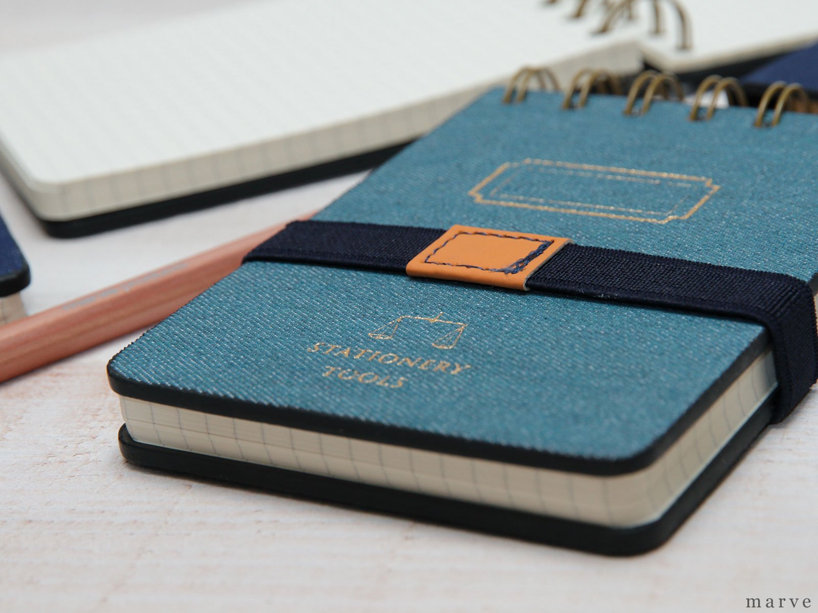 デニムカバーメモ TOOLS DENIM MEMO PAD B7 BLUE