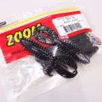 ZBC ズームワーム  Z CRAW Jr / ジークロージュニア #130-370 BLACK FLASH