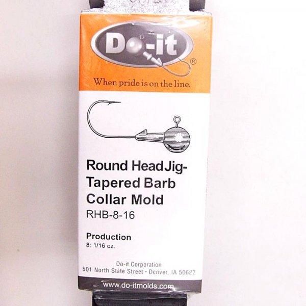 デッドストック DO-ITモールド ラウンドヘッドジグ テーパードバーブカラー RHB-8-16