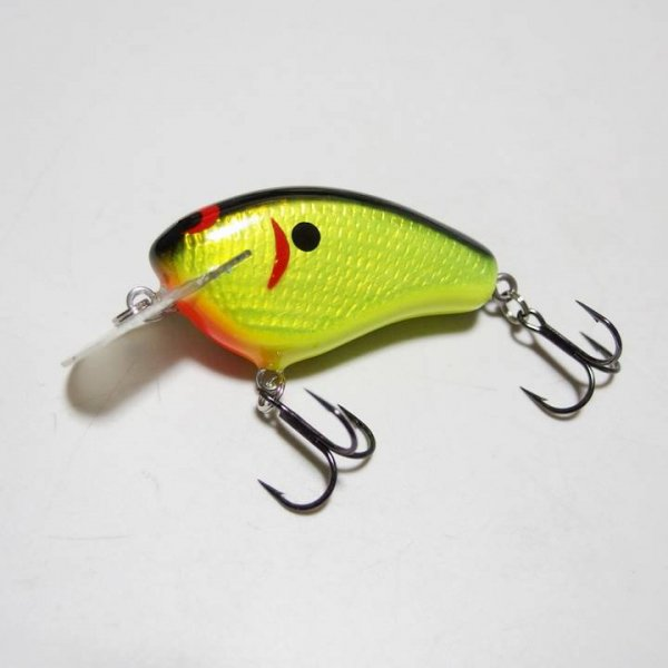 ZBC WEC MUTT クランクベイト #FOIL BLACK BACK CHARTREUSE