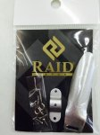 【6/22入荷分ご予約 クリックポスト可】 RAID JAPAN DODGE GENUINE PARTS シルバー(ダッジ専用パーツ)