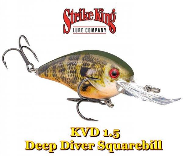 ストライクキング KVD 1.5 Deep Diver Squarebill /KVDディープダイバースクエアビル