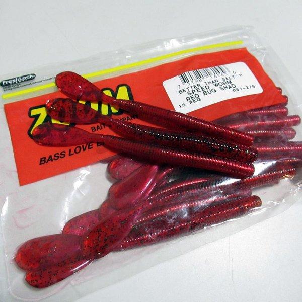 ZBC ズームワーム スピードワーム #051-270 RED BUG SHAD