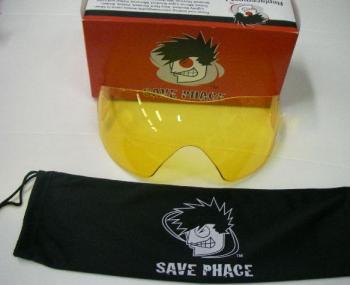 BASS PRO SHOPS バスプロショップス フェイスマスク SAVE PHACE 用 スペアレンズ #イエロー