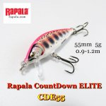 <img class='new_mark_img1' src='https://img.shop-pro.jp/img/new/icons5.gif' style='border:none;display:inline;margin:0px;padding:0px;width:auto;' />RAPALA COUNTDOWN ELITE CDE55/ラパラカウントダウン エリート 55mm 【メール便可】