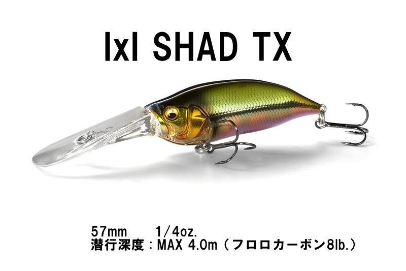 メガバス IxI Shad / アイバイアイシャッド TX