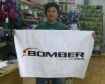 BASS PRO SHOPS バスプロショップス プラドコブランド バナー『 BOMBER 』