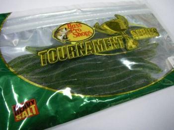 バスプロショップス トーナメントシリーズ Flick'n Shimmy Worms 5.8インチ#Watermelon Seed