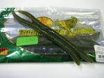 バスプロショップス トーナメントシリーズ Flick'n Shimmy Worms 6.8インチ#Greenpumpkin/Seed