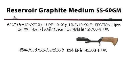 スーパーストライク リザーバーグラファイトミディアム SS-60GM